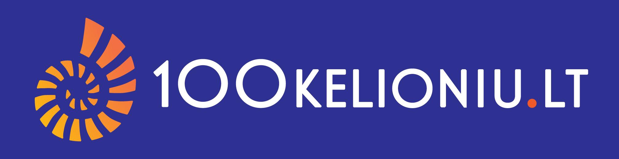 100kelioniu_logo su fonu RGB